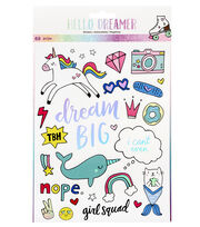 American Crafts Hello Dreamer 68 pk Large Stickers, , hi-res