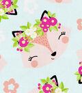 Snuggle Flannel Fabric 43\u0027\u0027-Floral Foxy