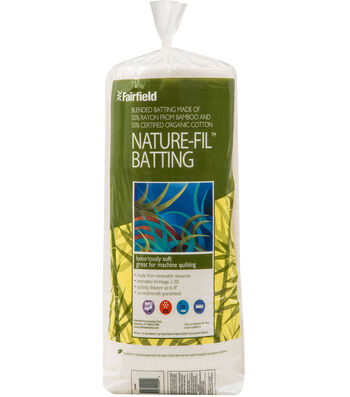 "Nature-Fil  Bamboo Blend Batting 81"" x 96"""