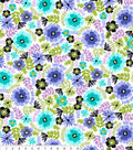 Snuggle Flannel Print Fabric 42\u0022-Painted Floral