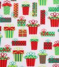 Christmas Cotton Fabric 43\u0027\u0027-Packed Presents on White