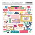 Pink Paislee Paige Evans Whimsical Thickers Chipboard Stickers-Icons