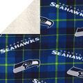 Seattle Seahawks Sherpa & Fleece Fabric-Plaid