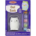 Melissa & Doug Decorate-Your-Own Owl Bank Craft Kit