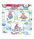 Art By Marlene 2.0 Chubby Chicks Cling Stamp-Bike