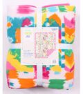 No Sew Fleece Throw 72\u0022-Bright Ethnic Patch