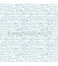 Alexandra Renke Cooking Paper 12\u0022X12\u0022-Fish On White