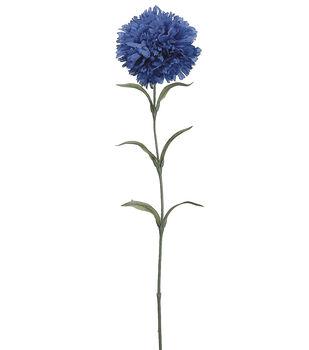 """Bloom Room 25"""" Carnation Stem-Blue"""