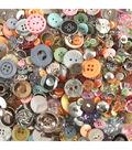 Flair 1 lb Buttons Mix-Shapes Sizes Colors Materials