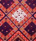 Boho Style Crepe Fabric 57\u0022-Diamond Patchwork