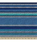 Anti-Pill Fleece Fabric 59\u0022-Knit Stripe Blue
