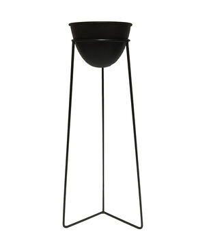 In the Garden 26.4'' Plant Stand-Black