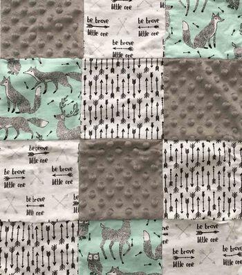 Nursery Cotton Blend Fabric 44''-Be Brave Quilt Patchwork