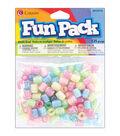 Fun Pack Pony Beads 125/Pkg-Assorted Deco