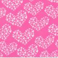 Valentine\u0027s Day Blizzard Fleece Fabric-Cluster Hearts on Pink