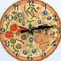 RTO 8\u0027\u0027x8\u0027\u0027 Counted Cross Stitch Kit-Bon Appetit! Clock