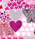Anti-Pill Fleece Fabric -Hearts