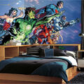 York Wallcoverings Pre Pasted Mural-Justice League