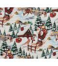 Christmas Cotton Fabric-Alpine & Santa