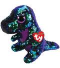 Ty Inc. Flippables Medium Sequin Crunch Dinosaur
