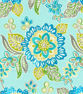 "Waverly Outdoor Fabric 54""-Tilt & Twirl Oasis"