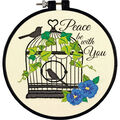 Learn-A-Craft Birdcage Embroidery Kit-6\u0022 Round Stitched In Thread