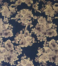 Scuba Knit Fabric-Yellow Floral on Black