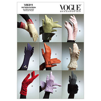 Vogue Patterns Misses Gloves-V8311