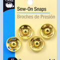 Dritz Sew On Snaps Gold Size 10