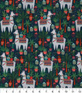 Novelty Cotton Fabric 43\u0027\u0027-Tropical Llama with Cactus