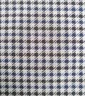 Refined Ponte Knit Fabric 58\u0022-Navy & Gray Menswear Check