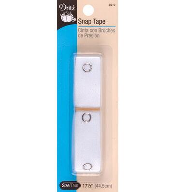 Prym Dritz Cotton Tape/Metal Snaps Size 4 White