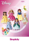 Simplicity Pattern 1581OS One Size -Crafts Doll Clothes