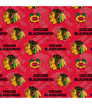 Chicago Blackhawks Cotton Fabric-Tone on Tone, , hi-res