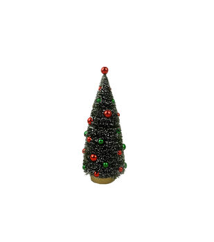 61826137440 Maker s Holiday Christmas 8   Tree with Ornaments-Red   Green