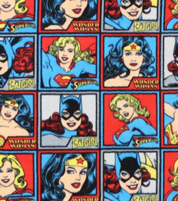 DC Comics Fleece Fabric -Girl Power