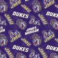 James Madison University Dukes Cotton Fabric-Tone on Tone