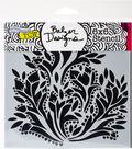 Crafter\u0027s Workshop Julie Fei-Fan Balzer Template 6\u0027\u0027x6\u0027\u0027-Dramatic Floral