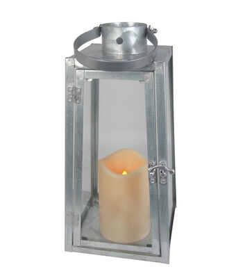 Hello Spring Small Galvanized LED Lantern