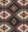 Snuggle Flannel Fabric -Mauve Aztec
