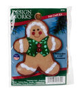 Design Works Christmas 3\u0027\u0027x4\u0027\u0027 Gingerbread Boy Ornament Felt Craft Kit