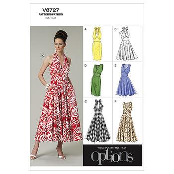 Vogue Patterns Misses Dress-V8727