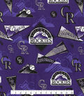 Colorado Rockies Cotton Fabric -Vintage