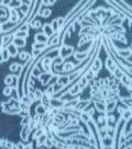 Sew Lush Fleece Fabric -Blue Damask