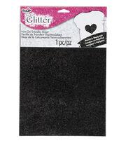 Tulip Fashion Glitter Iron-on Transfer Sheet-Black, , hi-res