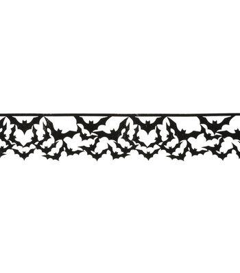 "Maker's Halloween Trim 1 5/8""x1yd-Bats On Strand"