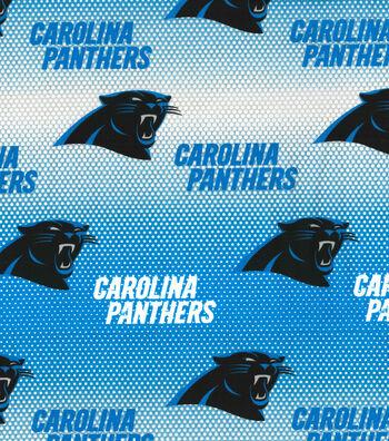 """Carolina Panthers Cotton Fabric 58""""-Mini Dot"""