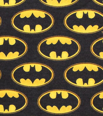 "DC Comics Flannel Fabric 42""-Batman Logo"