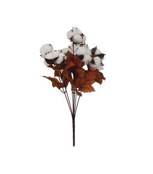 Blooming Autumn Cotton & Maple Leaf Bush