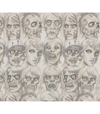 "Halloween Cotton Fabric 45""-Skin and Bones"